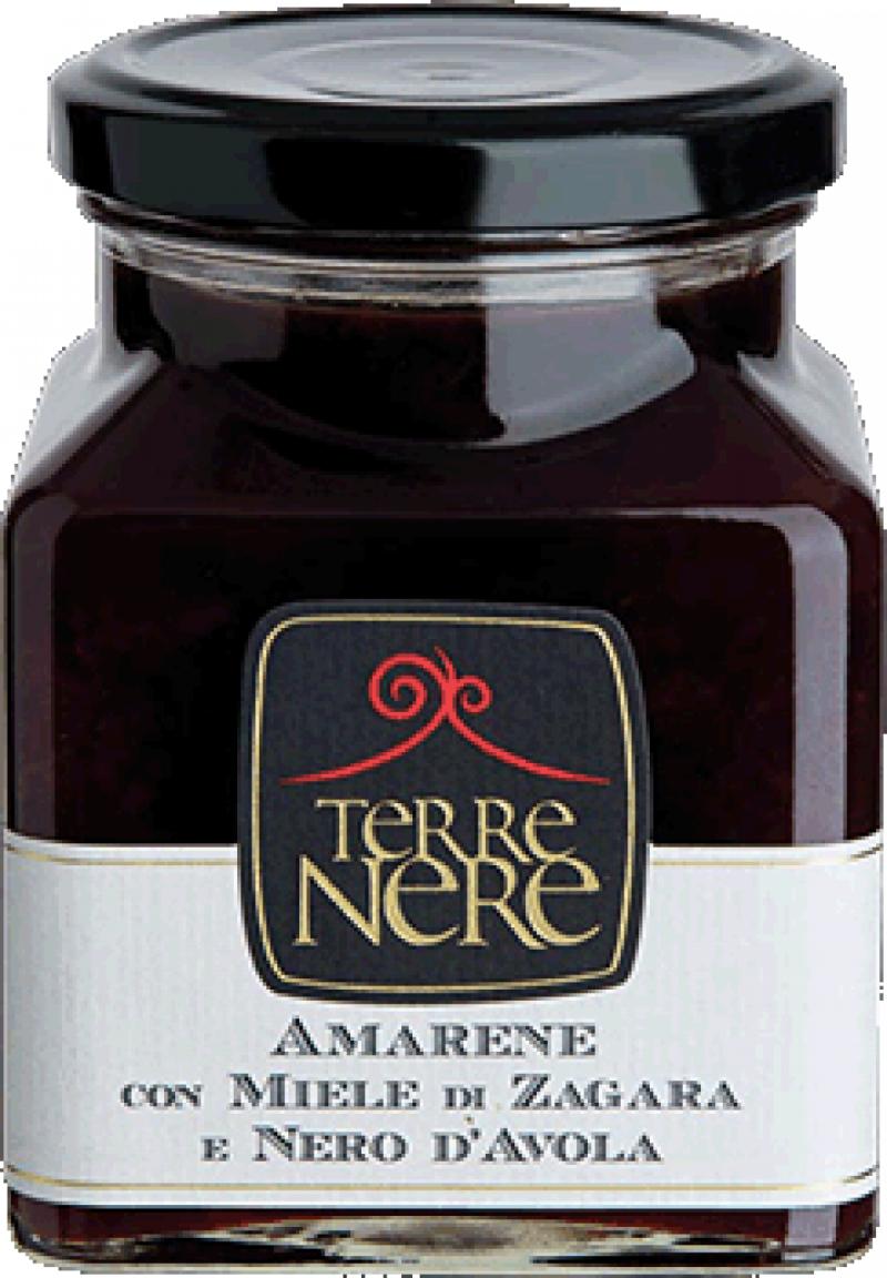 Confettura-di-Amarene-con-Miele-di-Zagara-e-Nero-d'Avola