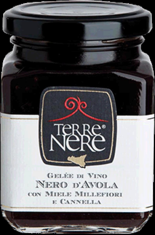 Gelée-di-Vino-Nero-d'Avola-con-Miele-Millefiori-e-Cannella