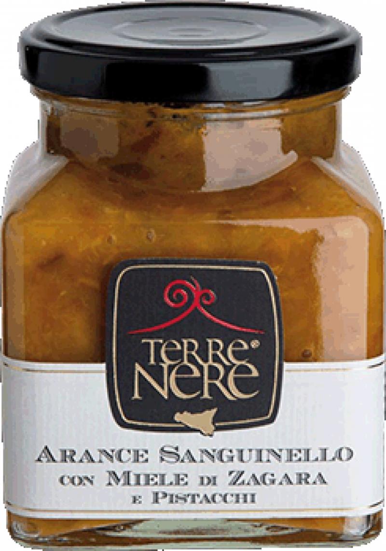 Marmellata-di-Arance-Sanguinello-con-miele-di-Zagara-e-Pistascchi